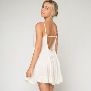 Brandy Melville Cream Jada Flowy Mini Dress S